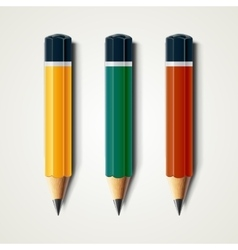 Realistic detailed sharpened pencils isolated on vector image