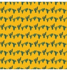 Seamless pattern with green cactuses on vector image vector image