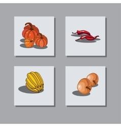 Set fruit 2 vector image
