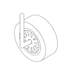 Wheel for racing car icon isometric 3d style vector image