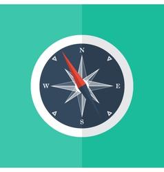 White compass circle icon vector
