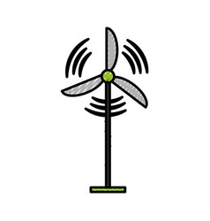 Wind turbine isolated vector