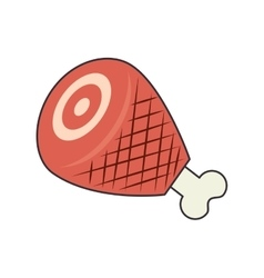 Ham leg food vector