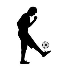 Man kicking soccer ball vector image