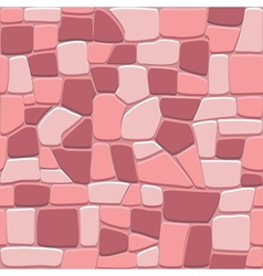 Stone wall background in seamless format vector