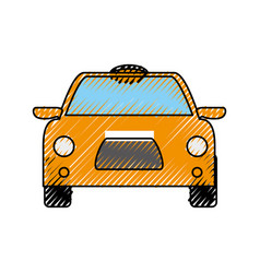 taxi cab vehicle vector image