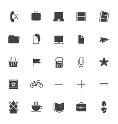 Set icons for business communication web vector