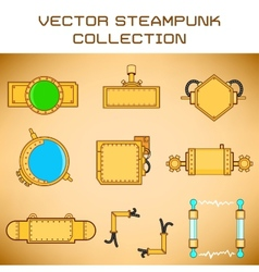 Steampunk set vector
