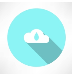 Cloud and drop icon vector