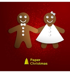 Paper christmas cookies vector
