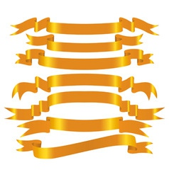vector gold banner set vector image