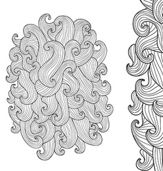 Wave decoration vector