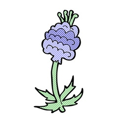 Comic cartoon flower vector