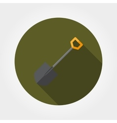 Shovel icon flat vector