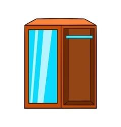 Wardrobe icon cartoon style vector