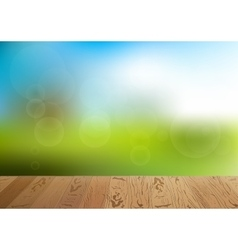 Green grass and blue sky background vector