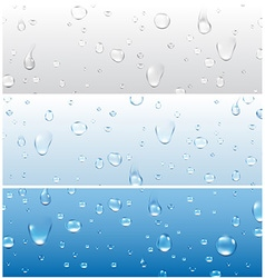 Banners with water drops vector