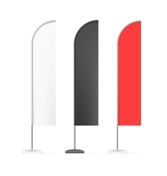 Set of white black and red outdoor blade straight vector