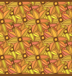Autumn seamless pattern season colors orange vector