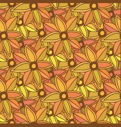 Autumn seamless pattern season colors orange vector