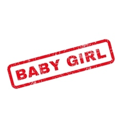 Baby girl text rubber stamp vector