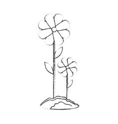 beautiful flowers gardening vector image vector image