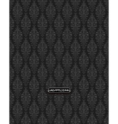 Black damask vintage floral pattern vector
