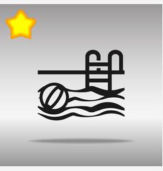 black swimming pool icon button logo symbol vector image
