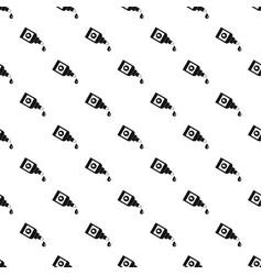 Bottle for eye drops pattern vector