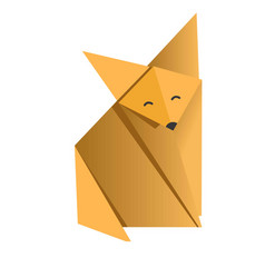 Cheerful fox origami vector