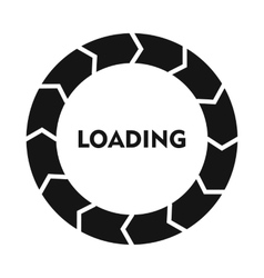 Circle loading icon simple style vector
