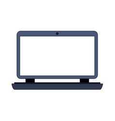 Color image cartoon laptop computer with flat vector