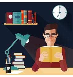 Concept of Reading Books Man Reading Book vector image vector image