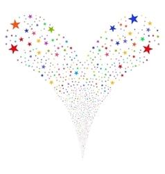 Confetti star double fireworks stream vector