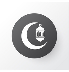 Crescent icon symbol premium quality isolated vector