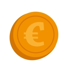 Currency euro coin money isolated vector
