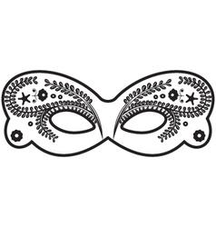 Decorated venetian masks vector