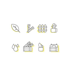 farm line icon sets vector image