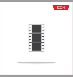 film icon on white background vector image