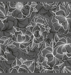 floral seamless pattern hand drawing pattern vector image vector image