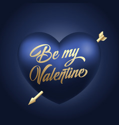golden lettering valentines day greetings vector image