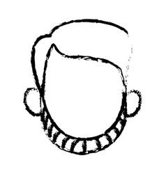 head faceless man character sketch vector image