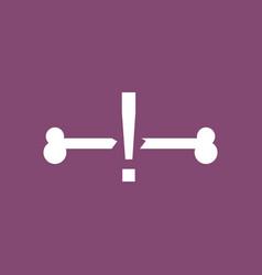 Icon broken bone vector