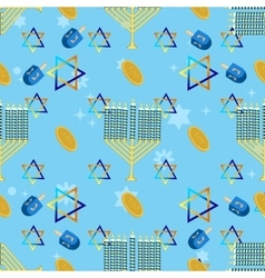 Jewish holiday seamless pattern hanukkah vector image