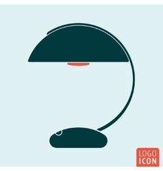 Lamp icon isolated vector image vector image