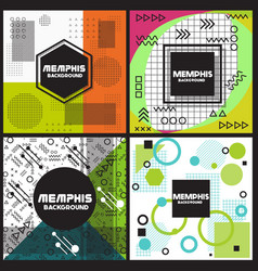 Memphis background style design template il vector
