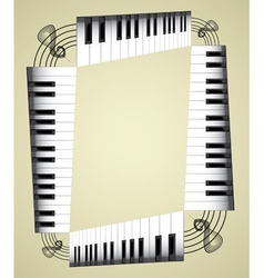 Music notes border vector image vector image