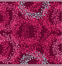 Seamless floral pattern with wreath vector