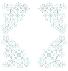 Snowflake decoration chistmas design vector