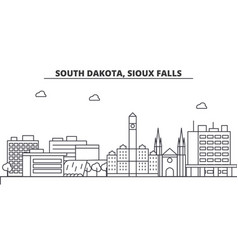 south dakota sioux falls architecture line vector image vector image